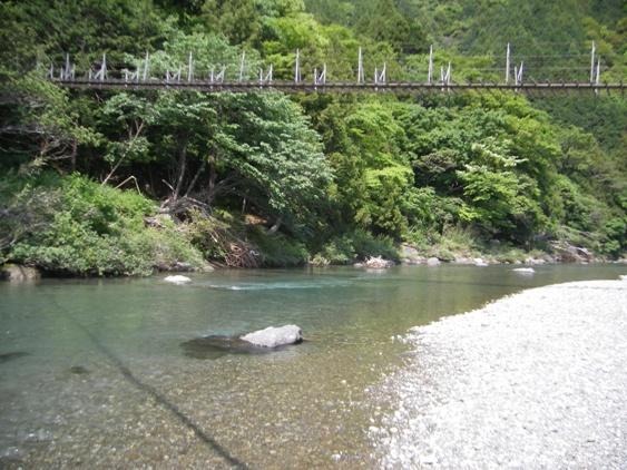 漁協裏の釣り橋下