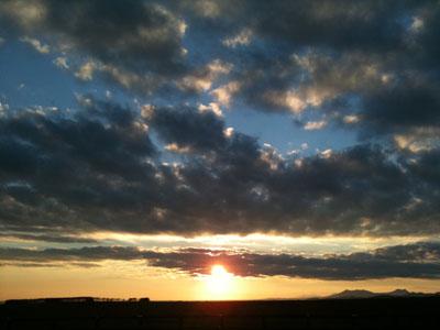 開陽台の夕日