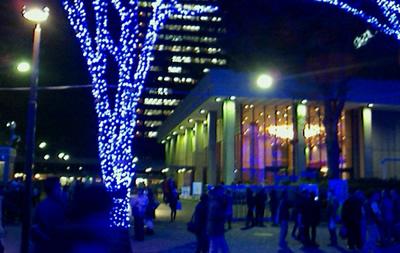 NHKホール前 代々木公園の並木道 LEDイルミネーション