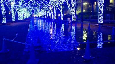 うたコン NHKホール前『青の洞窟 SHIBUYA』イルミネーション