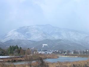 雪の鳥居形