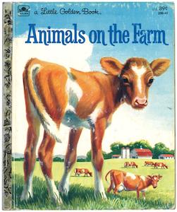 Animals on the Farmリトルゴールデンブック 表紙