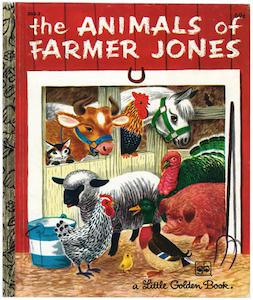 ジョーンズ牧場のどうぶつたち/リチャード・スカリー版表紙