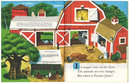 ジョーンズ牧場のどうぶつたち/リチャード・スカリー版|リトルゴールデンブック1