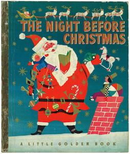 クリスマスの前の晩/1950年版|リトルゴールデンブック 表紙