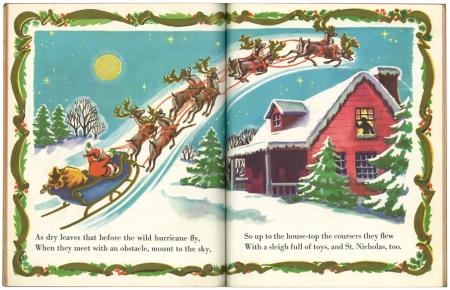 クリスマスの前の晩/1950年版|リトルゴールデンブック 2