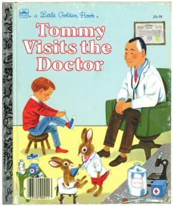 トミーお医者さんへ行く|リトルゴールデンブック表紙