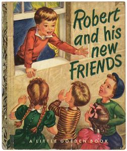 ロバートの新しい友だち #リトルゴールデンブック 表紙