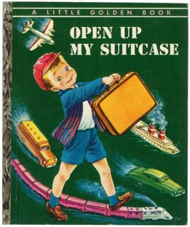 スーツケースを開けたら #リトルゴールデンブック 表紙