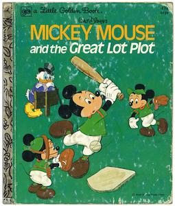 ミッキーマウス と空き地計画|リトルゴールデンブック表紙