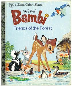 バンビと森の友だち|リトルゴールデンブック表紙