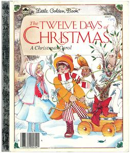 クリスマスの12日|リトルゴールデンブック表紙