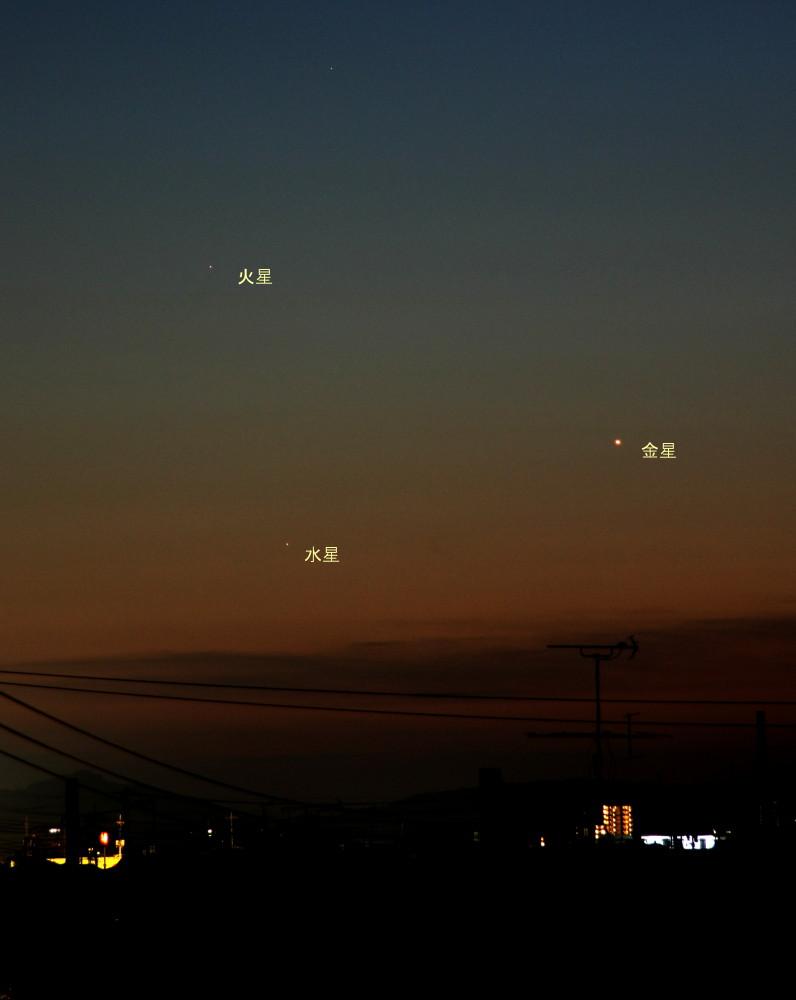 3惑星競演