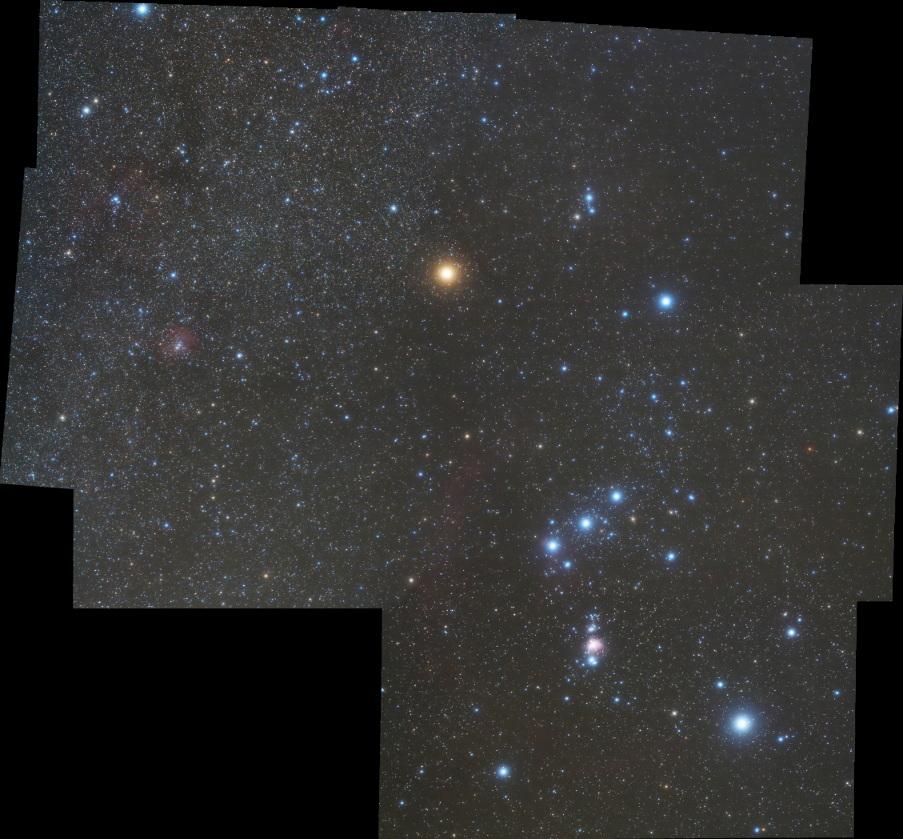オリオン座とバラ星雲