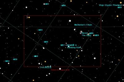 おとめ座の銀河マップ