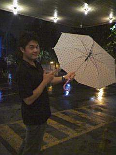 ホテルの傘