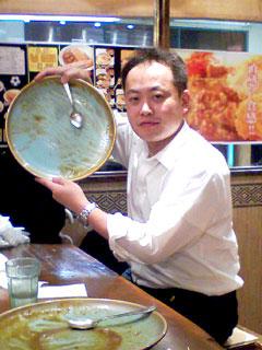 田中リーダー 完食
