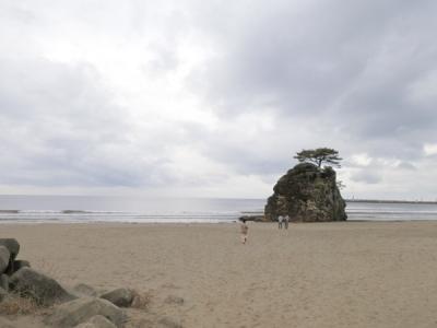 神迎祭が行われる稲佐の浜