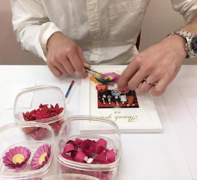 paperquillingペーパークイリングNKcraft菊地七夢結婚式サンクスボード手作り教室東京