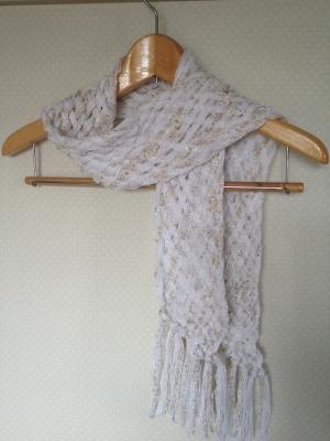 ゆび織マフラー