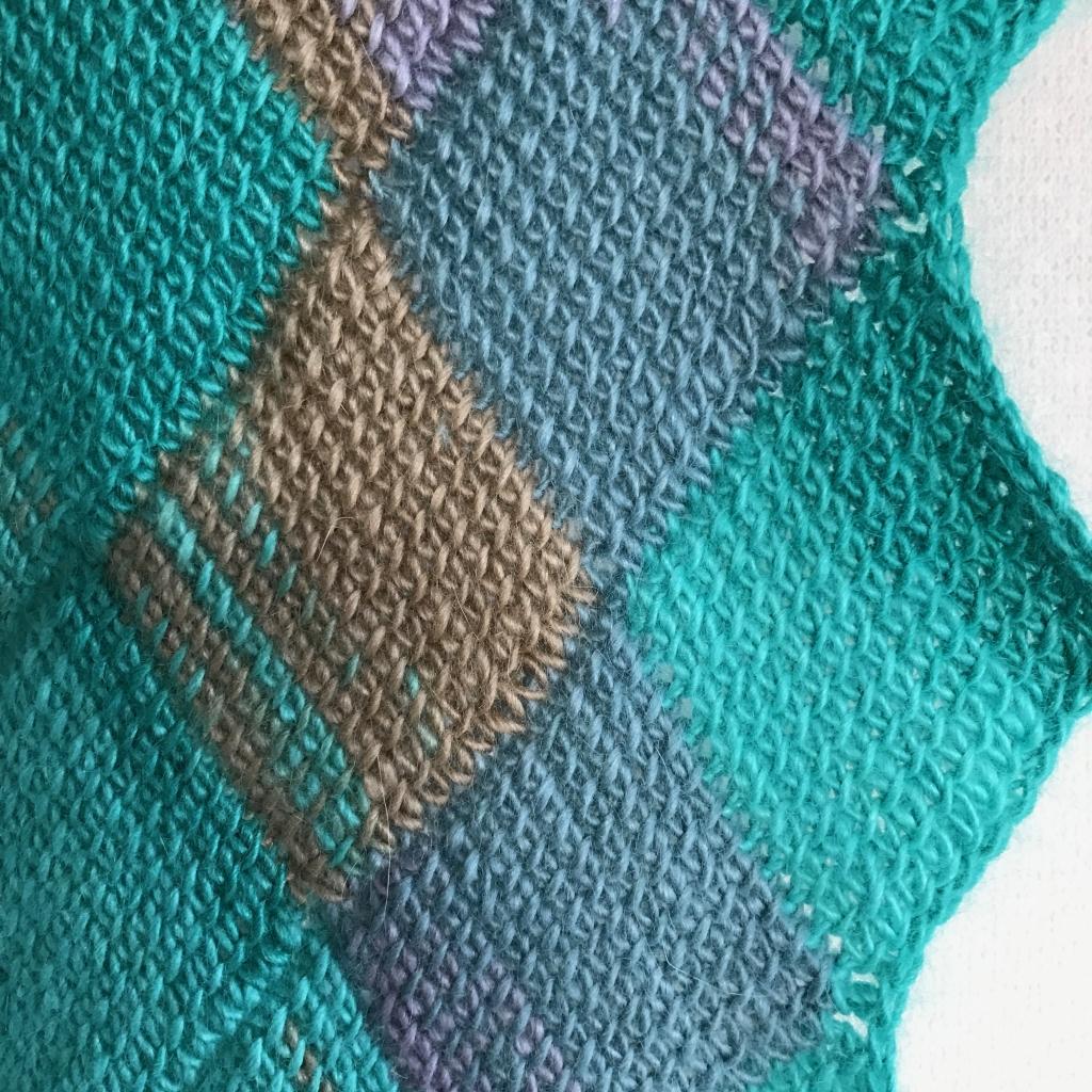 ブブロックアフガン編み