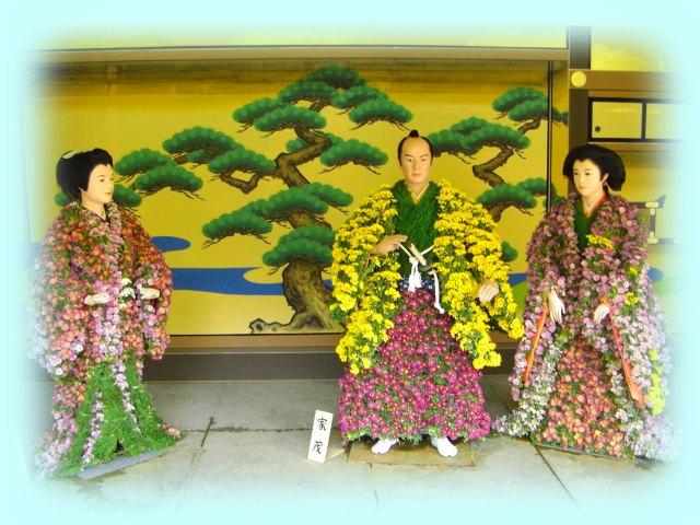 左から、篤姫、徳川将軍家茂、その正室である和宮