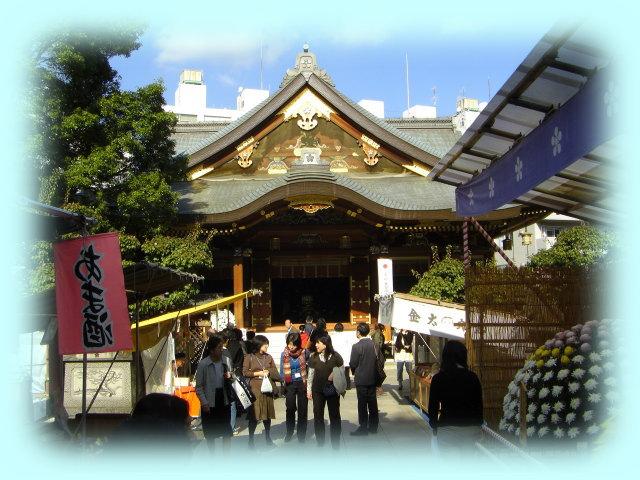 湯島天神の拝殿