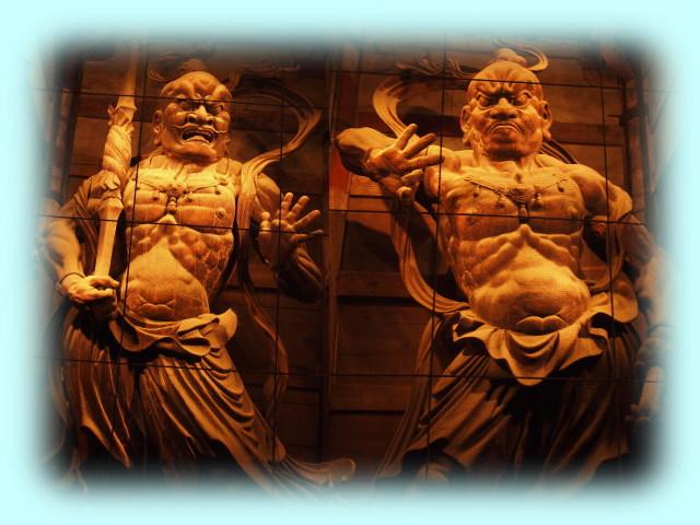 運慶と快慶の金剛力士像(WB調整前)
