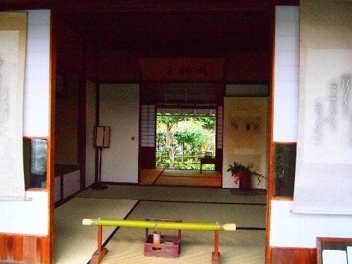 落柿舎の庵