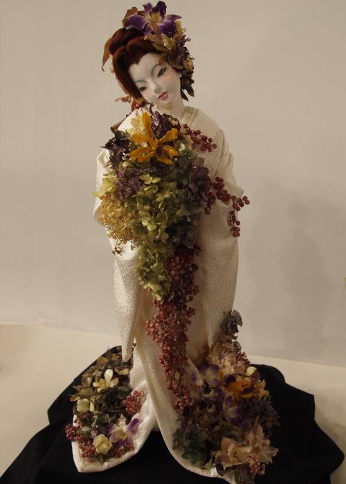 世界らん展2010に展示されていたラン人形