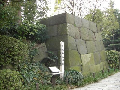 日比谷公園に保存されている江戸時代の石垣