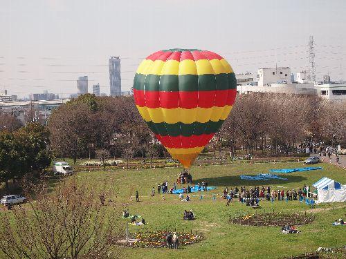 舎人公園の熱気球
