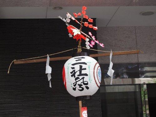 浅草の三社祭りの提灯
