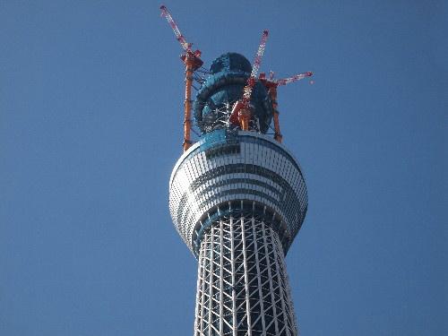建築中の東京スカイツリー
