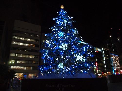 プルデンシャル・タワーのクリスマス・ツリー