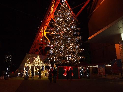 東京タワーのクリスマス・ツリー