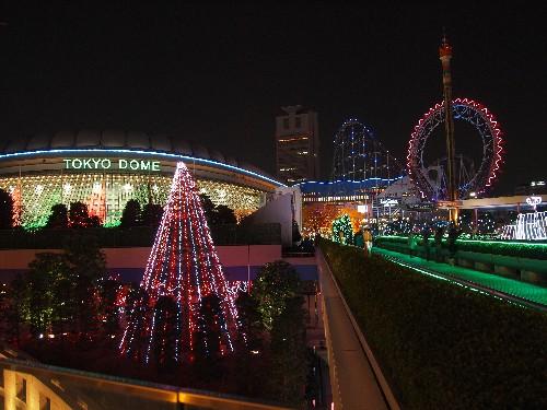 東京ドームのイルミネーション