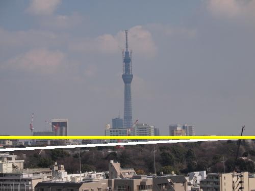 東京スカイツリー609mの錯覚しやすい写真