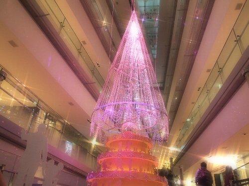 表参道ヒルズのクリスマス・ツリーのスターライト撮影