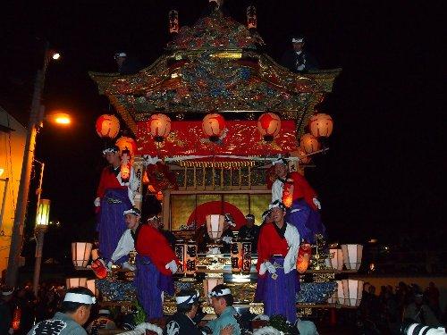 秩父祭りの笠鉾と屋台