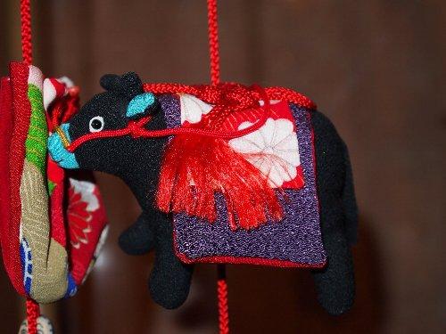 京王プラザホテル、桃の節句の吊るし飾り