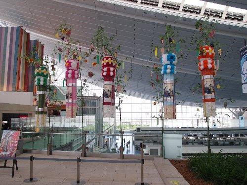 羽田空港の七夕飾り