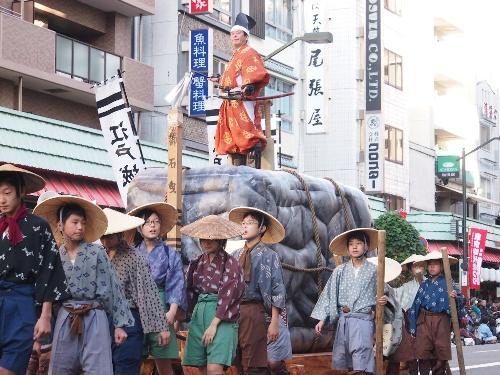 江戸城石垣の搬入