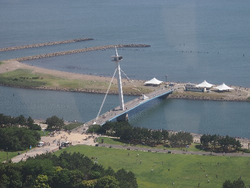 葛西臨海公園の大観覧車からの眺め