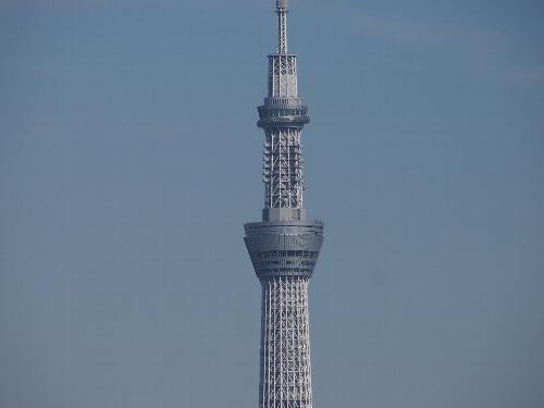 東京スカイツリーの天望デッキ(350m)と天望回廊(450m)