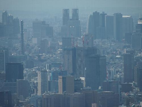 東京スカイツリーからの眺め、新宿副都心方面