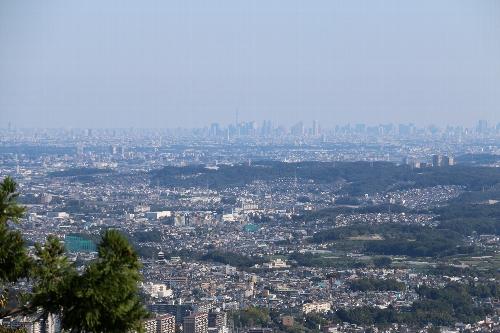 展望台から東京方面を一望の下に見渡す
