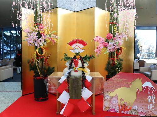 (注)富士急ハイランドホテルのお正月飾り