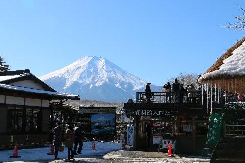 忍野八海から見る富士山