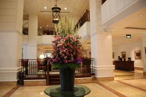 居心地が良いホテルのロビー
